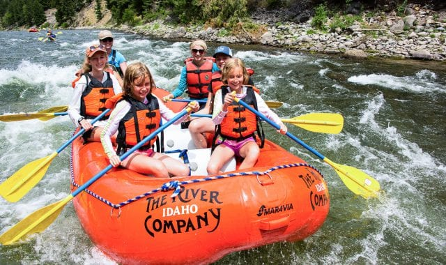 Rafting near Sun valley, Idaho on the Salmon River