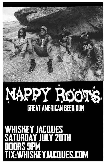 Nappy Roots LIVE at Whiskey Jacques' @ Whiskey Jacques | Ketchum | Idaho | United States