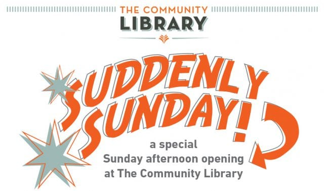 Suddenly Sunday! at The Community Library @ The Community Library | Ketchum | Idaho | United States